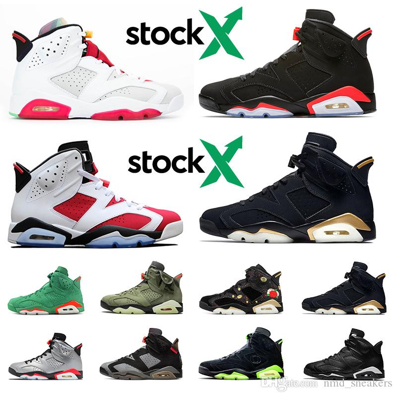 nike air jordan  6 6s scarpe da pallacanestro Carmine UNC MAROON BLACK CAT oreo Toro uomo scarpe da ginnastica sneakers sportive taglia 41-47 Spedizione gratuita
