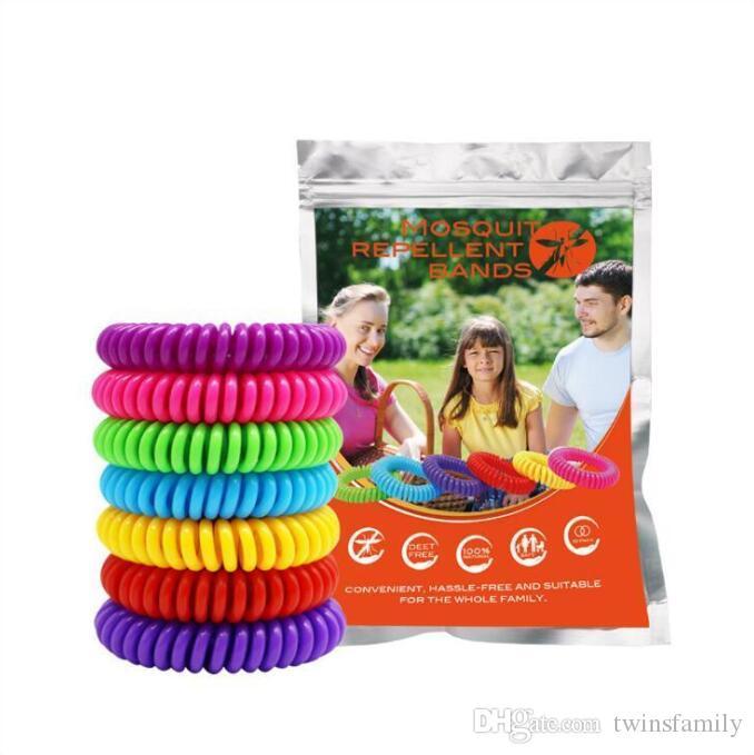 Anti-moustique Bracelet élastique extensible Coil spirale poignet main bande téléphone anneau de la chaîne anti-moustiques Bracelet Pest Control DYP997