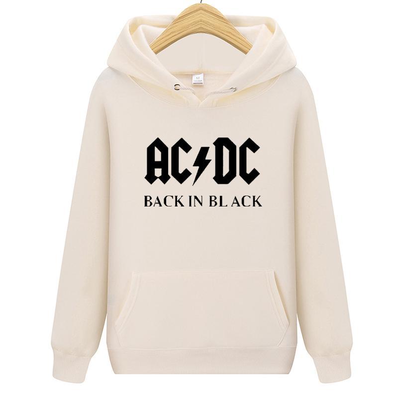 Musique Hoodie Lettre Homme rock band AC / DC imprimé Sweat-shirt Homme Automne ACDC Graphique O-Neck Sweats à capuche homme Sweats à capuche lâche