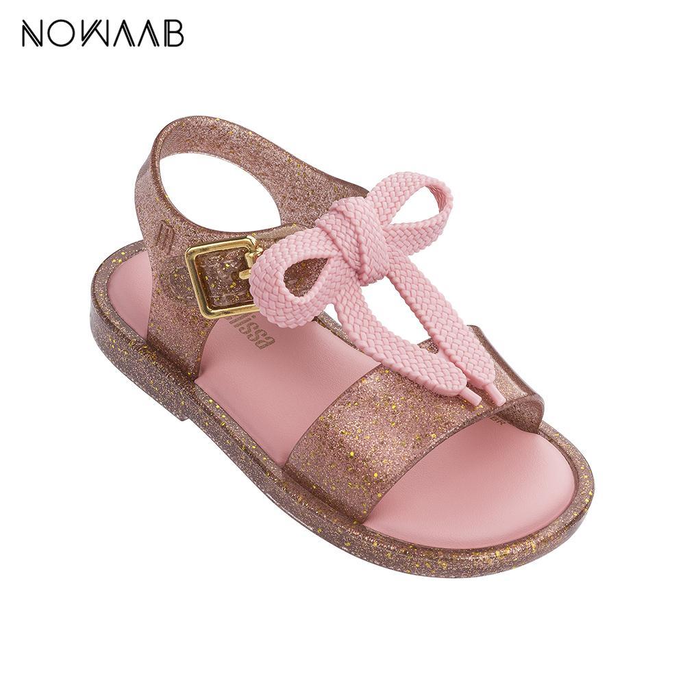 미니 멜리사 어린이 신발 2019 새로운 여름 소년 소녀 젤리 신발 여자 미끄럼 방지 샌들 아동 비치 샌들 유아 신발 신발 끈 CX200704