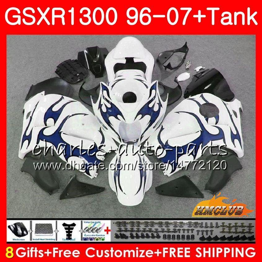 Body For SUZUKI Hayabusa GSXR1300 blue flames 96 97 98 99 1996 1997 1998 1999 24NO.224 GSX-R1300 GSXR 1300 00 01 07 2000 2001 2007 Fairing