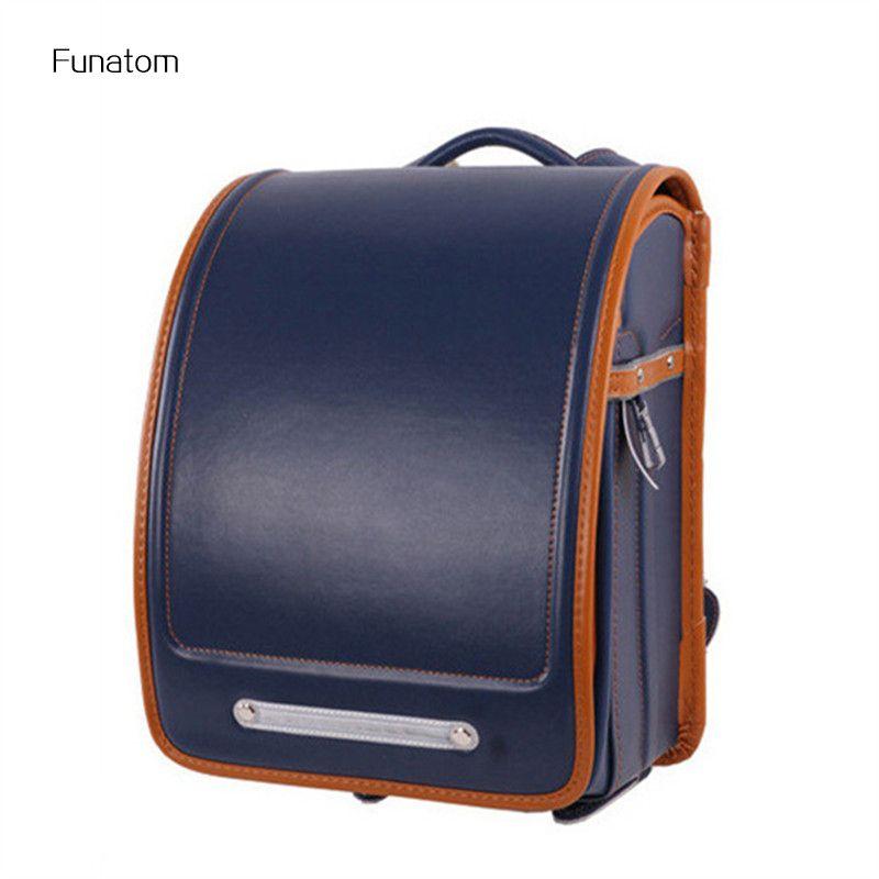 Kid Orthopedic Japanese Students Bookbags School Bag Children Backpack For Girl And Boys Japan PU Randoseru Backpack Hot