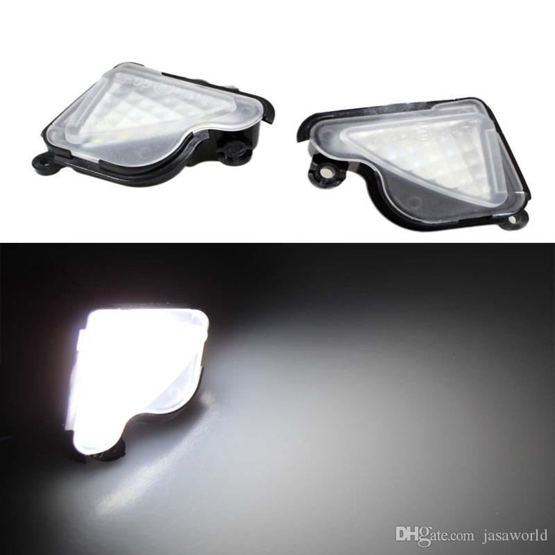 Error Free LED White LED Under Side Mirror Light Puddle Lamp for skoda Octavia Mk3 5E 2012 2013 2014 2015 2016-2017 Superb 2 Octavia 3