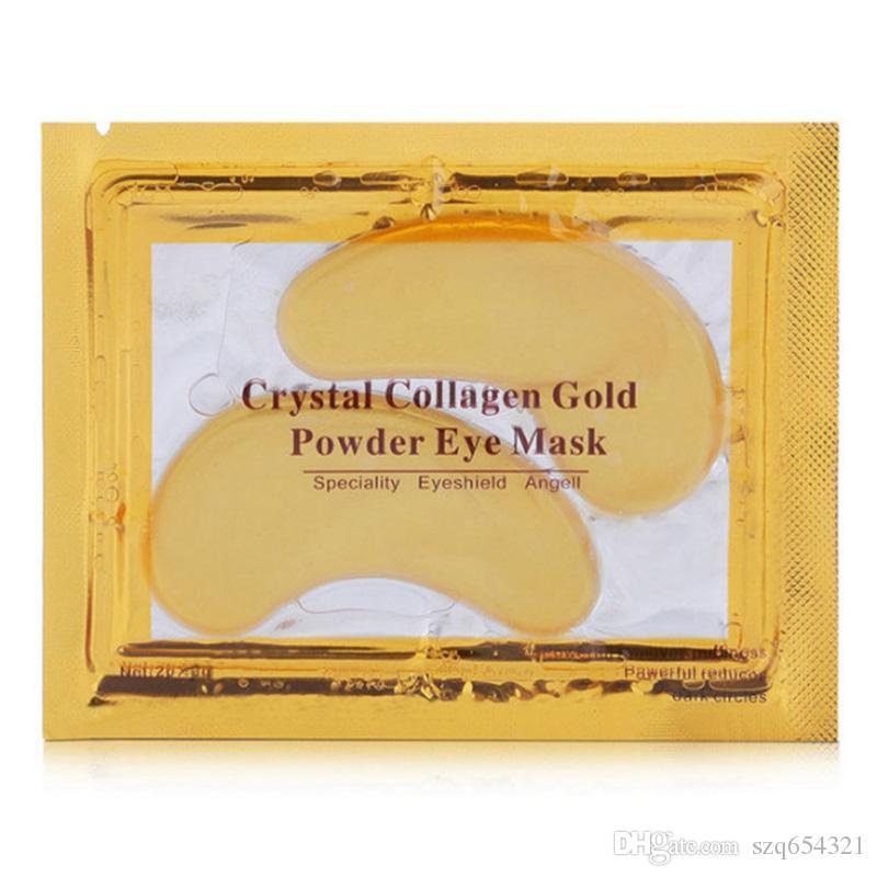 La maschera per gli occhi di cristallo dell'oro della polvere del collageno sbuccia la maschera per gli occhi di cristallo d'idratazione profonda del collageno Trasporto libero