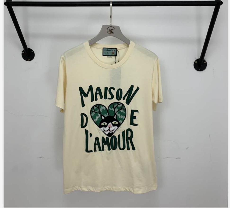 2020 Donne Del Progettista T Shirt Marca Tees Pattens Lettere Di Colore Stampato Maniche Corte Modello Stile Lusso Top Coppia Stile Grande T Shirt