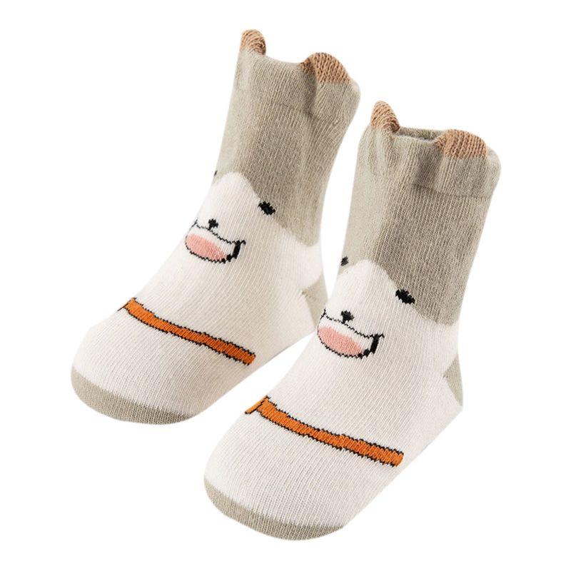 Autumn Cartoon Print Cotton Newborn Baby Socks Sole Soft Sock Boys Girls Infant Toddler Anti-slip Floor Socks