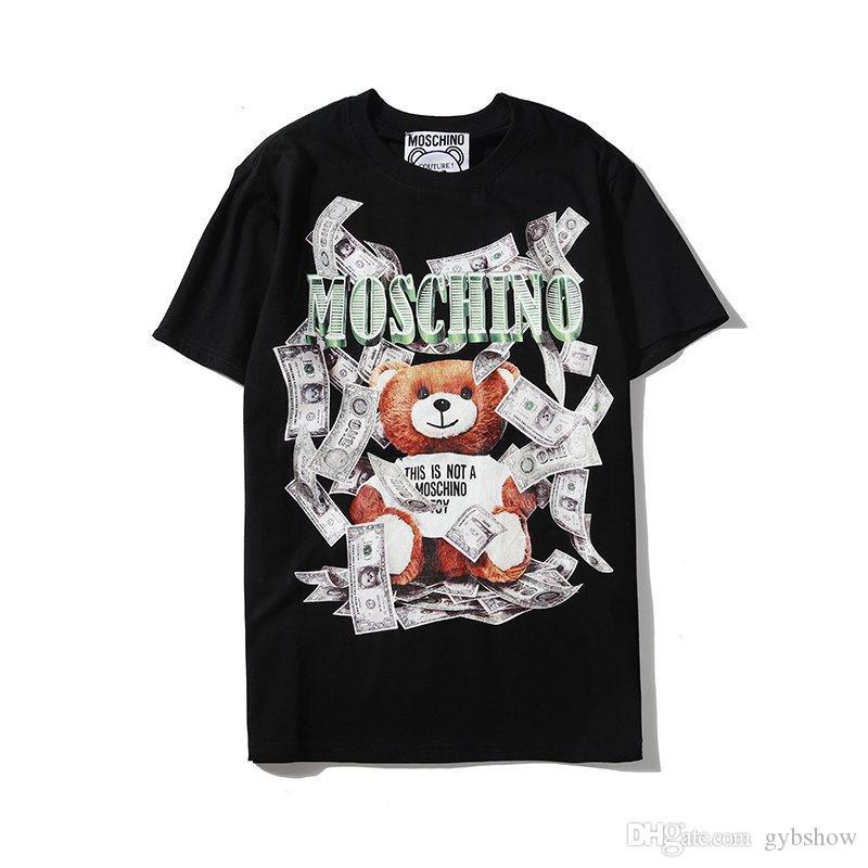 20SS Luxus Männer Frauen T-Shirt BÄR Print Brief Tops Street T Shirts Hip Hop Kanye Qualitäts-Mann-Kleidung Cotton Tee GWQ531