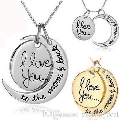 Collana popolare Nuovo squisita progettista collana Luna Sole collana delle donne degli uomini coppia Amore monili di lusso Commemorative Top Fashion