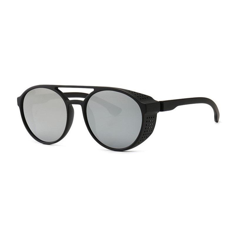 Steampunk من النظارات الشمسية أزياء النساء الرجال الرجعية نظارات جولة نظارات سوداء البخار فاسق خمر أزياء النظارات des هلالية دي سولي