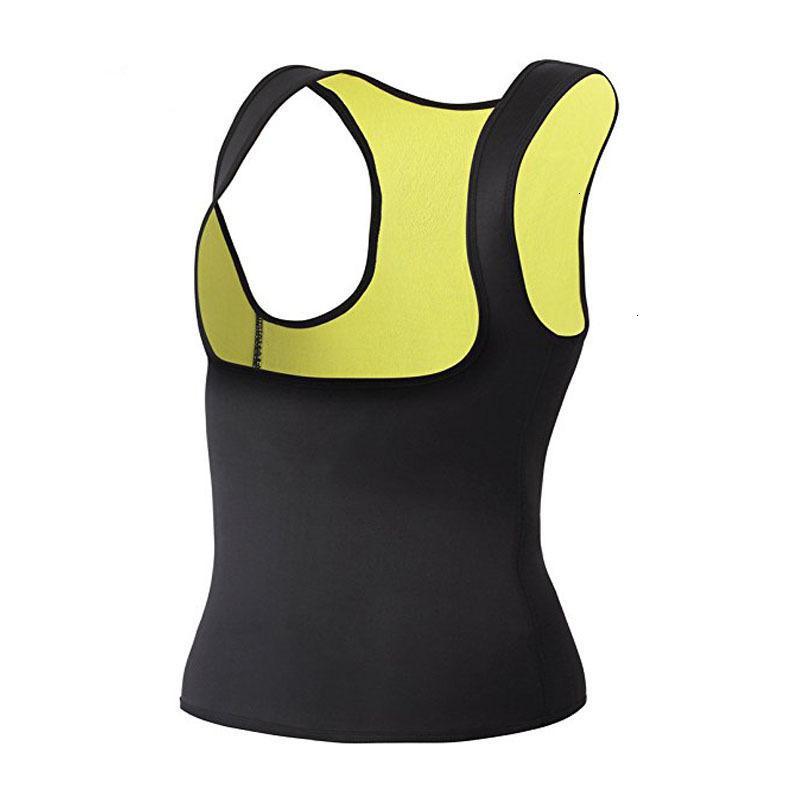 Vücut Şekillendirici Dropship Vücut Şekillendirici Karın Fat Burner Ter Tank Top Zayıflama Egzersiz Shapewear Neopren Katı Sauna Korse