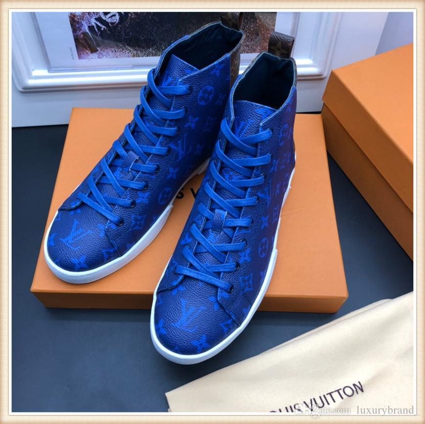 louis vuitton LV Artefatto datazione Mens designer scarpe di lusso Sneaker da night club advanced Marrone oro Nero bianco con scatola
