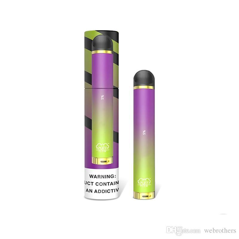 Stock 8Colors soplo de flujo desechable Vape 1000 hojaldre 4 ml 600amh Vape pluma soplo Barras de flujo cigarrillo electrónico