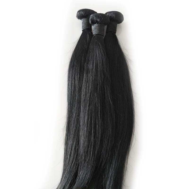 Grado superiore brasiliane diritte tessuto dei capelli Bundles 120g piece 3 pc un lotto con il colore naturale, il trasporto gratuito