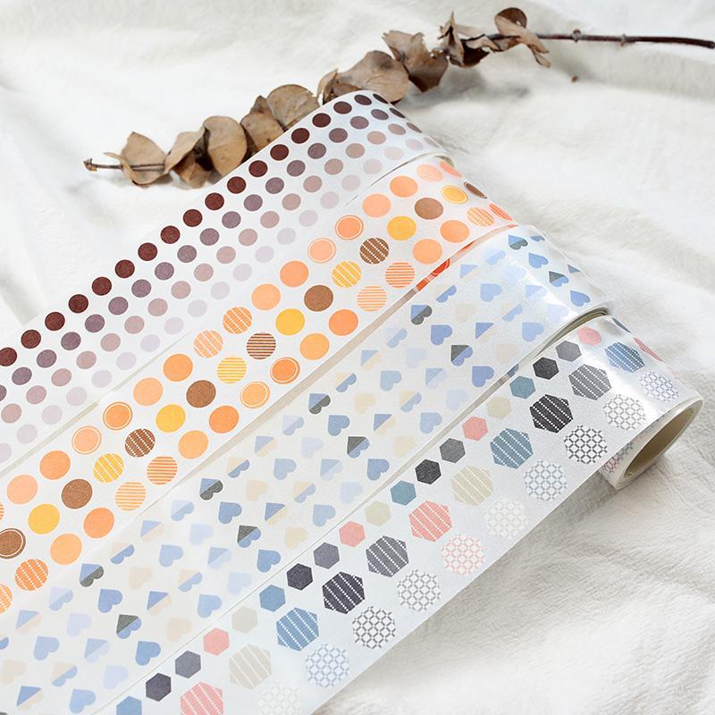 stripe Dot matrix cerchio del nastro di base washi la decorazione di DIY scrapbooking pianificatore nastro adesivo etichetta adesiva del nastro adesivo