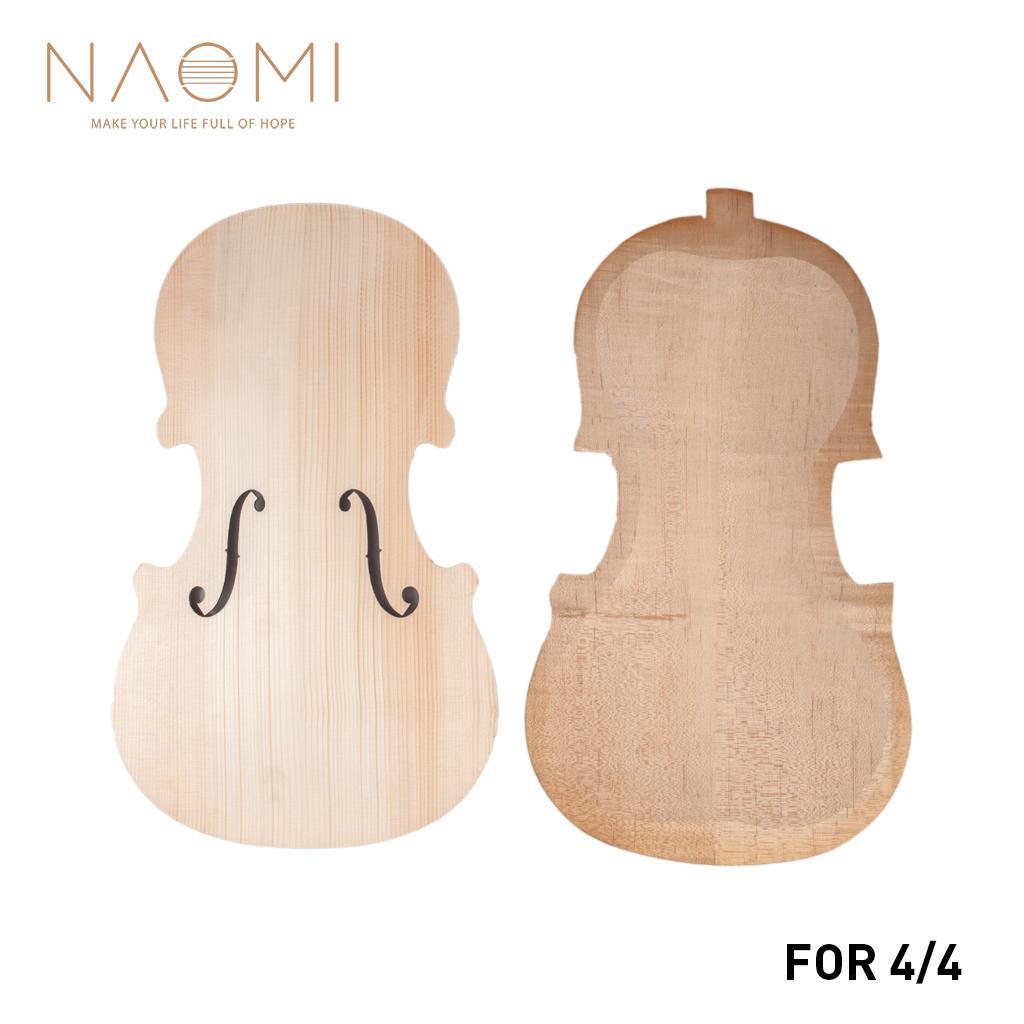 나 오미 바이올린 위아래 미완성 바이올린 파트 4/4 스프루스 탑 앤드 메이플 백 DIY 바이올린 부품 악세서리 신규