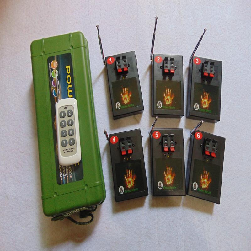6 Cues remote controll Weihnachtsgeschenk Anzeige Beruf New Remote neues Jahr Hochzeitsgeschenk CE FCC Bestanden Feuerwerk-System Firing