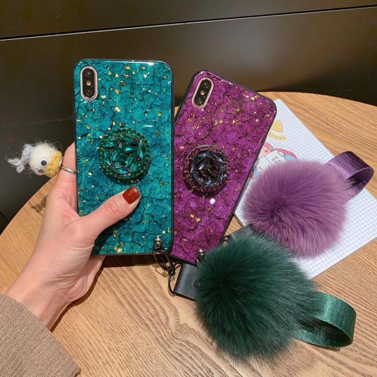 Pour Huawei P20 P20 Pro P20 Lite Nova 3E De Luxe Bling Feuille D'or Marbre Téléphone Cas avec Dragonne 2019 Vente Chaude Produits