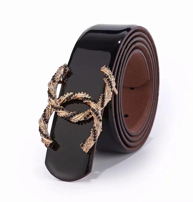 Designer female belt letter buckle luxury brand belts for women high quality