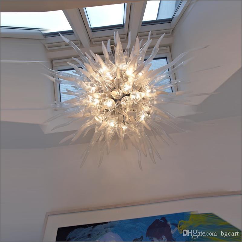 Dale Chihuly stile soffiato a bocca 110v / 120v lampadine LED turco stile Art Decor mano soffiato a soffitto in vetro di Murano Lights Designer