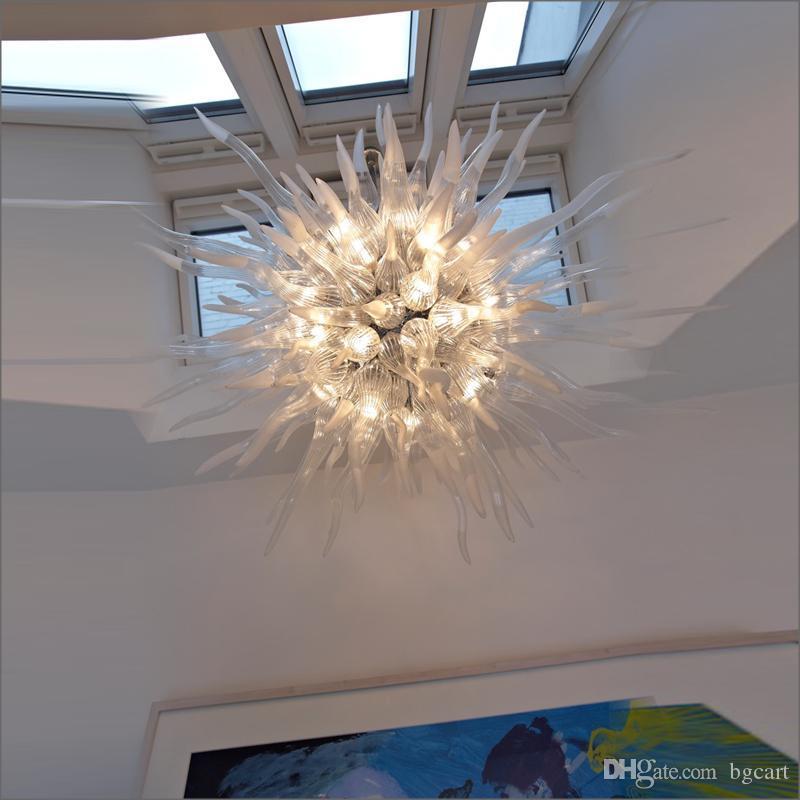 Dale Chihuly Estilo soprado 110v / 120v Lâmpadas LED turco estilo Art Decor Hand Blown teto de vidro Murano Acende Designer