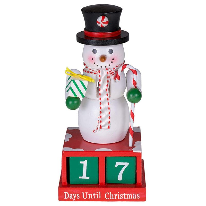 Promotion! 24 Plus Day Snowman Advent Calendar Countdown to Christmas Painted Numbers Black Top Hat Unique Holiday Decoration