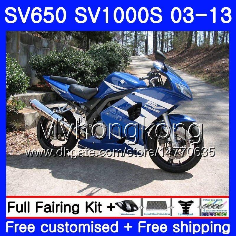 Кузов для SUZUKI Stock blue frame SV650 SV1000S SV650S 03 04 05 06 07 08 308HM.51 SV 650S 1000 S 1000S 2003 2004 2005 2006 2007 2008 обтекатель