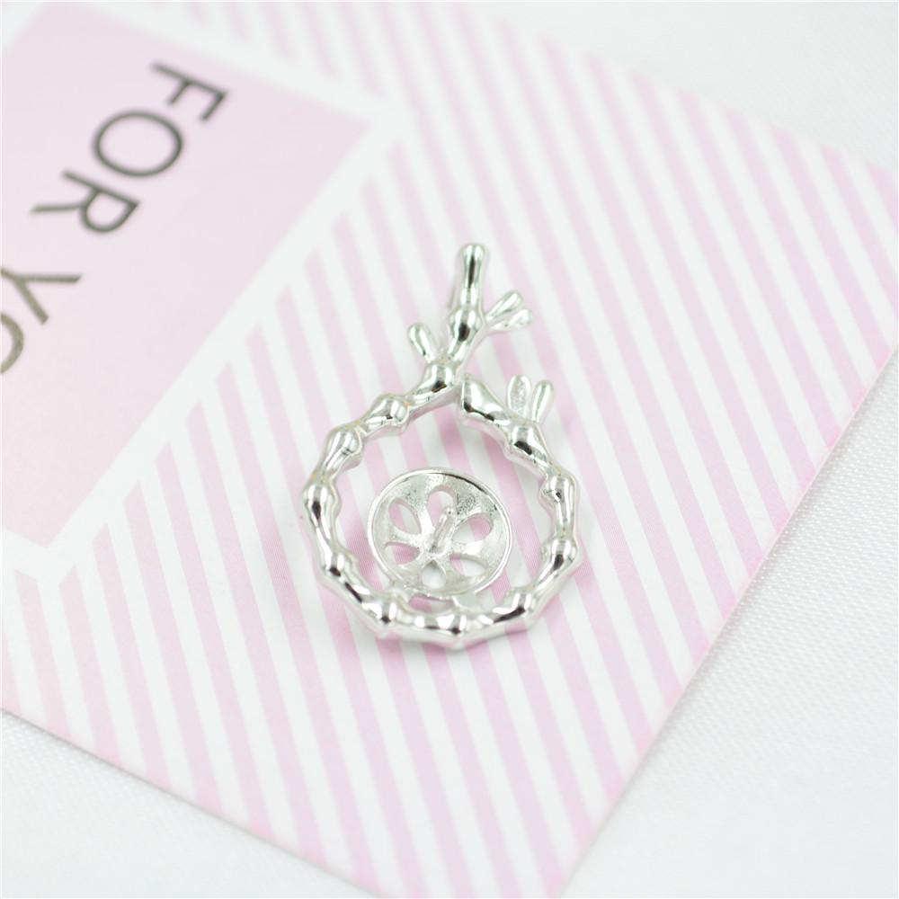 wholesale Fashion S925 Sterling Silver Pendant mountings vase pearl Pendant mountings DIY Necklace accessories free shipping