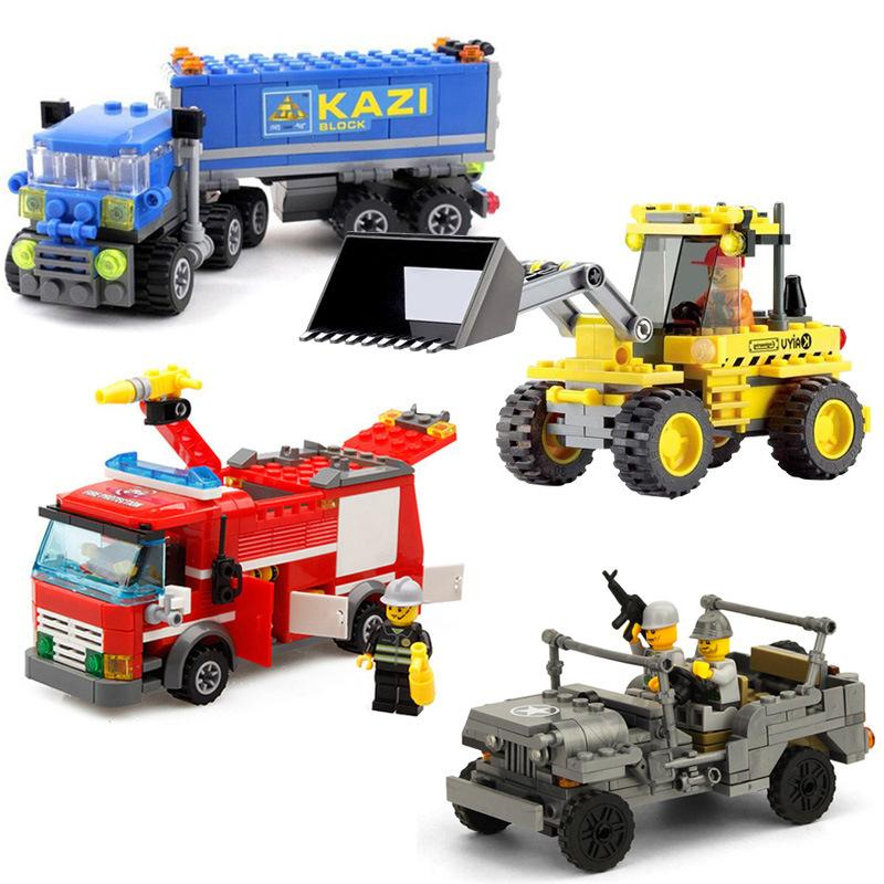 Kaizhi Engineering Series Variety Style Children Boys Puzzle Small Particles Assembled Building Block Toys Welcome to Order