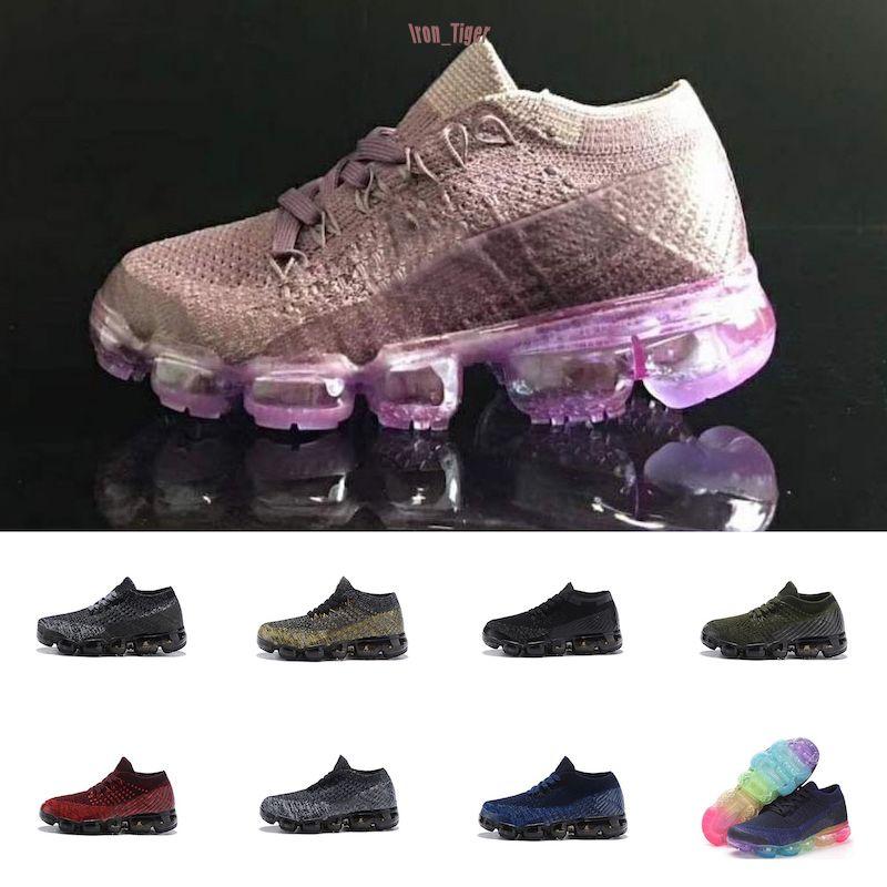 NikeAirVapormax2018 2020 2019 promociones especiales zapatos 2018 patín de los niños Niños y niñas zapatos de los niños 10 colores para niños zapatos de niño zapatillas de 28-35
