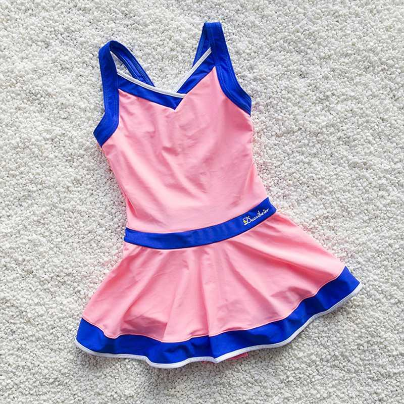 Baby-Badebekleidung Einteiliger Badeanzug Kinder Badeanzug Mädchen-Strand-Kleid-Kind-Sport Bademode Mädchen-Schwimmen-Kleidung 3-12 Jahre