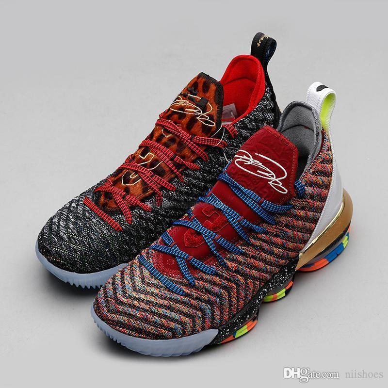 2019 New LMTD Starting What the XVI 16s Multicolor Mens Basketball Shoes LeBRon 16 Wolf Grey Sports Size US7-12
