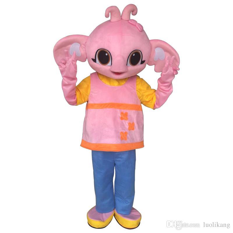 Costume de mascotte Sula vente chaude Bing Bunny éléphant costume de mascotte costume de fantaisie pour adulte événement de fête d'Halloween