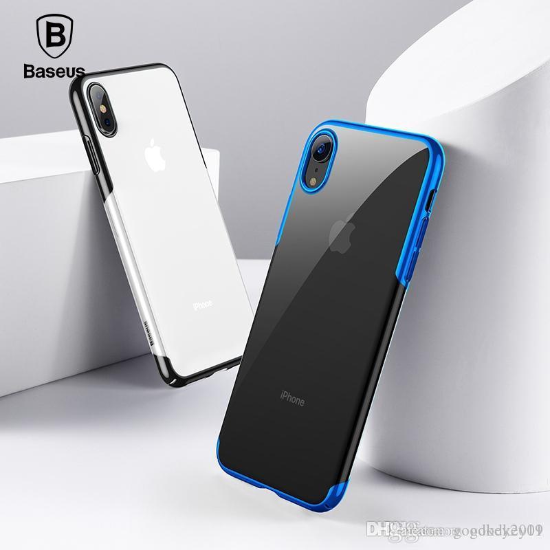 iPhone X'ler 9 Xs Artı Vaka Lüks Kaplama Sert Plastik Telefon Kılıfı Ultra İnce Geri Telefon Kapak Coque İçin