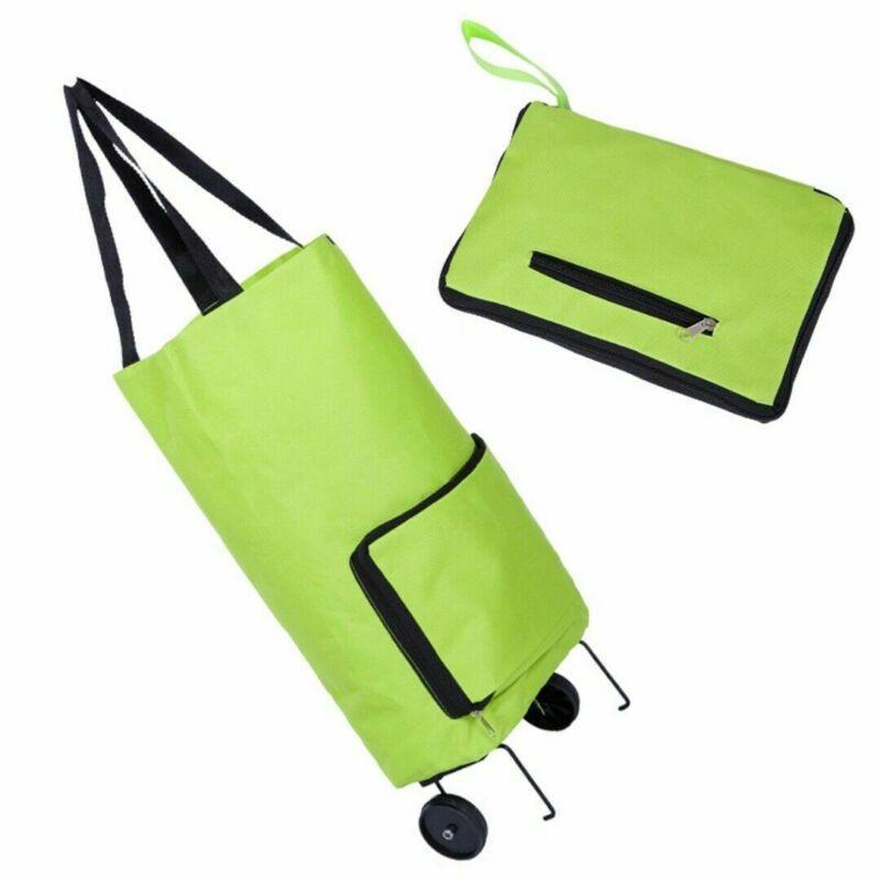 Faltbare Trolley-Tasche Tragbare Einkaufswagen Folding Home Reisegepäck Grün wasserdichter beweglicher Organisator-Speicher