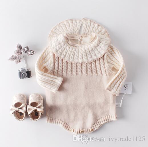 Niño Niña ropa Suéter Pullover Buen diseñador Invierno de punto Leopardo Abrigo suéter de manga larga O mameluco Caliente Niños top suéteres de otoño