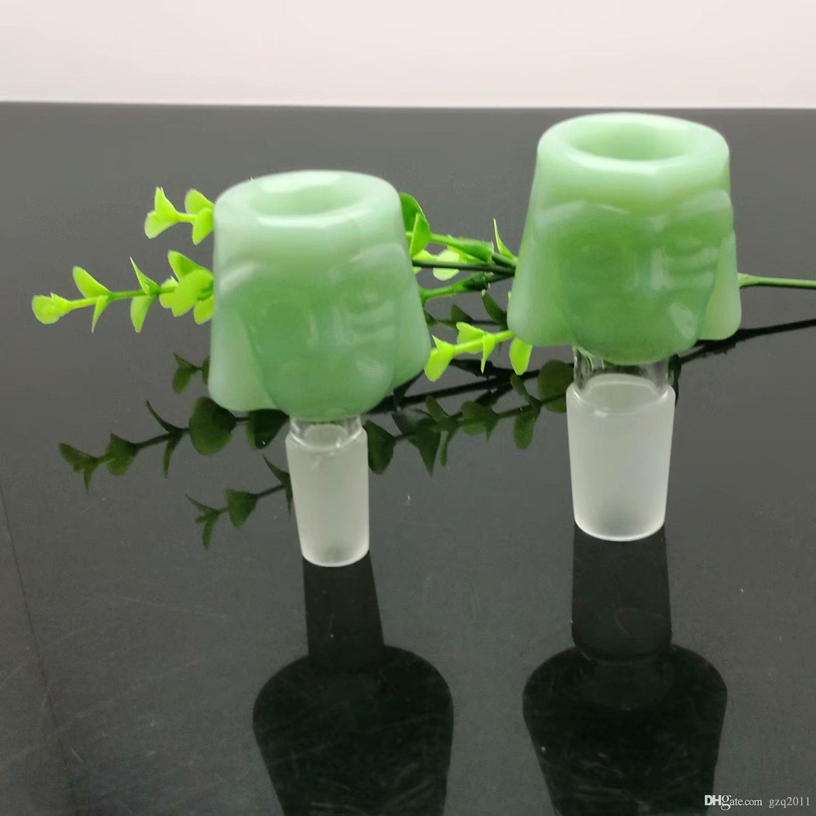 Verre Cartoon Bubble Head verre Converter avec différentes couleurs en gros brûleur Bongs Pipes huile d'eau Pipe en verre huile fumante gratuit Rigs