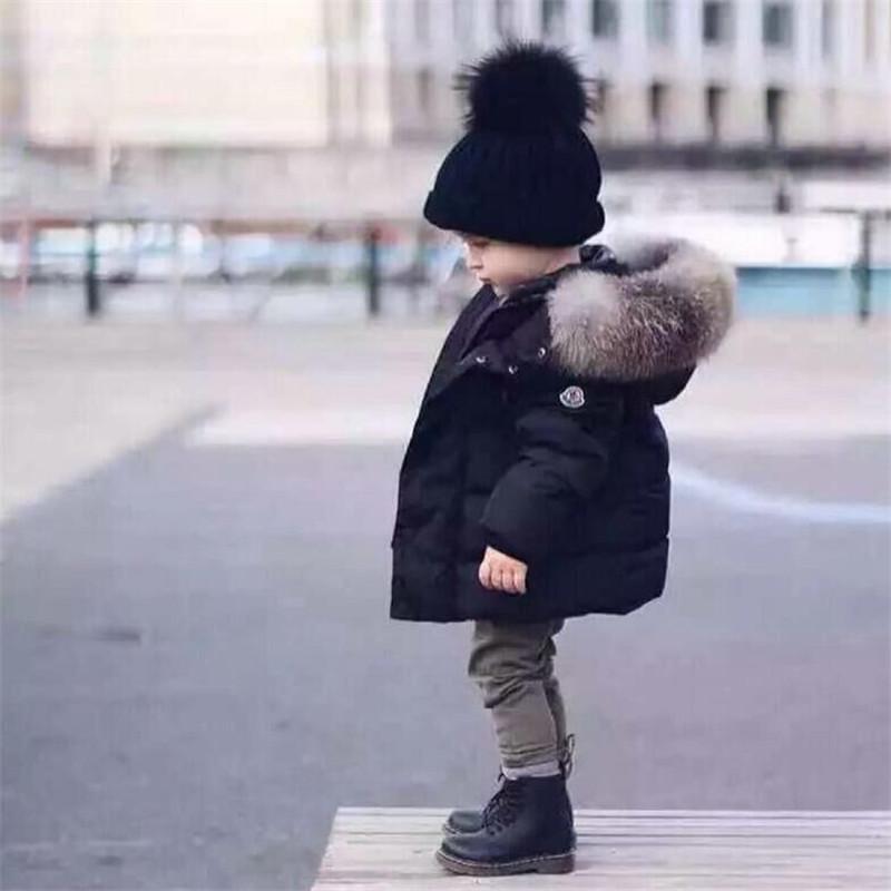 Neue Marke 2019 Kinder Jacken Baby-Wintermantel Baumwolle Warmer Kinder-Mantel-Jacken-Pelz-mit Kapuze Oberbekleidung für Babys Mädchen-Kleidung