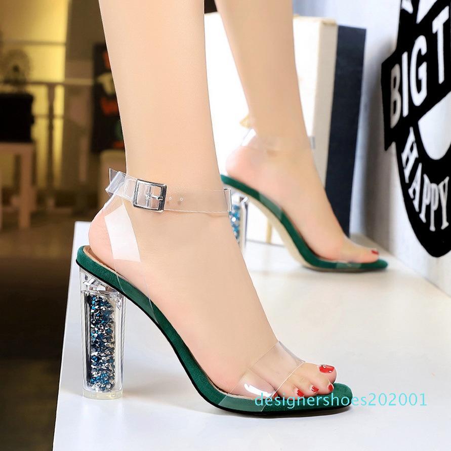 Sıcak satış-topuk kalın topuklu süper yüksek topuklu bayan ayakkabıları akşam Sevgiliye ayakkabılar womens ayakkabı yaz moda 2019 zapatos de mujer d01 pompalar