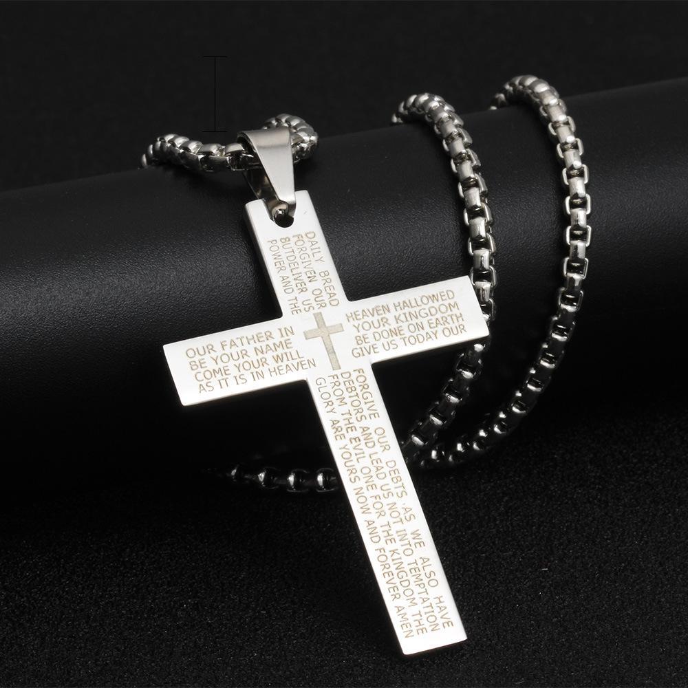 Punk Cruz Collares joyería de Hip Hop collares pendientes Oración amante de la joyería regalo collar de la letra de la Cruz