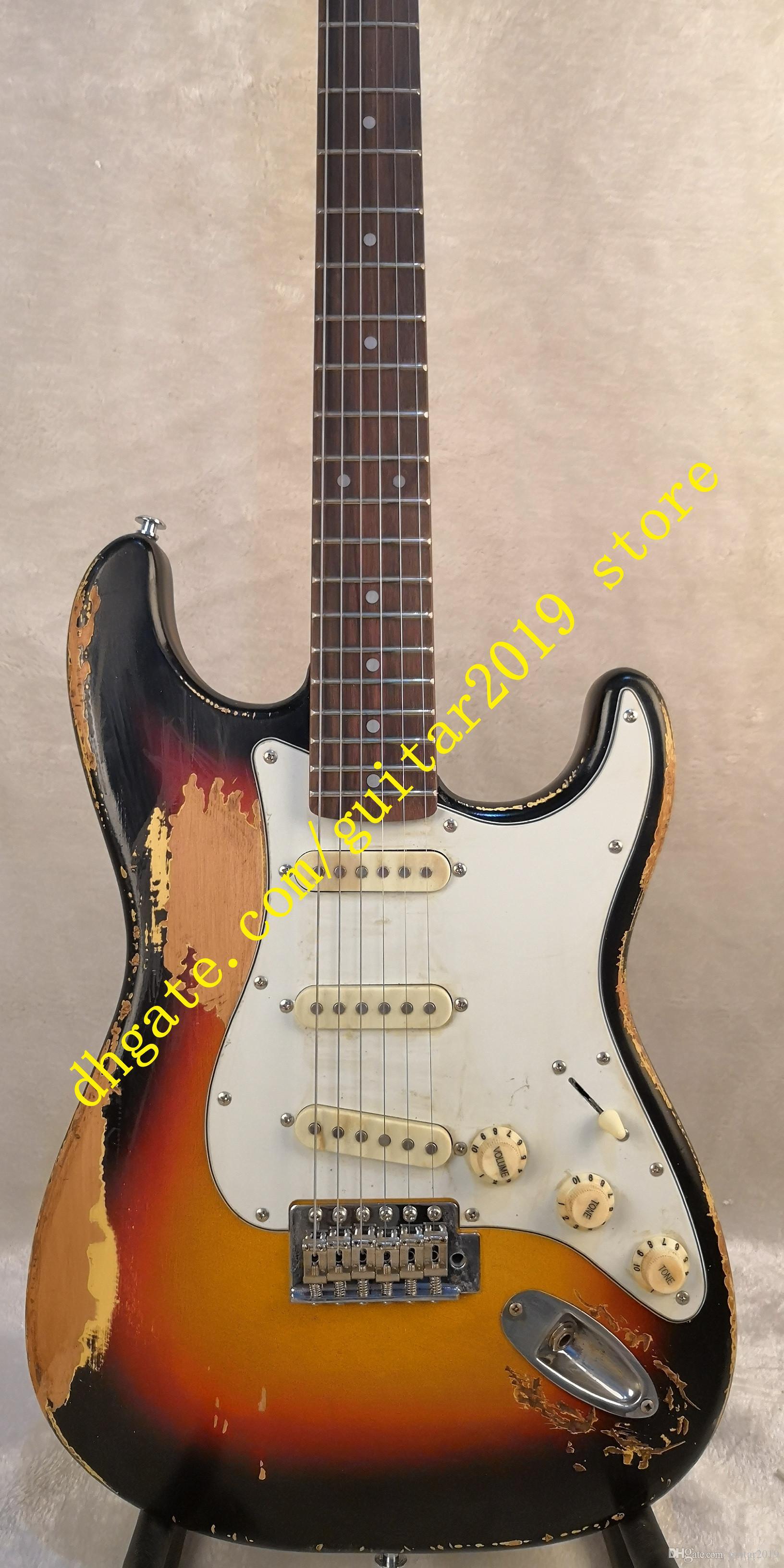 Deluxe Serisi Frusciante 1962 Sunburst Ağır Relic Elektro Gitar Stokta