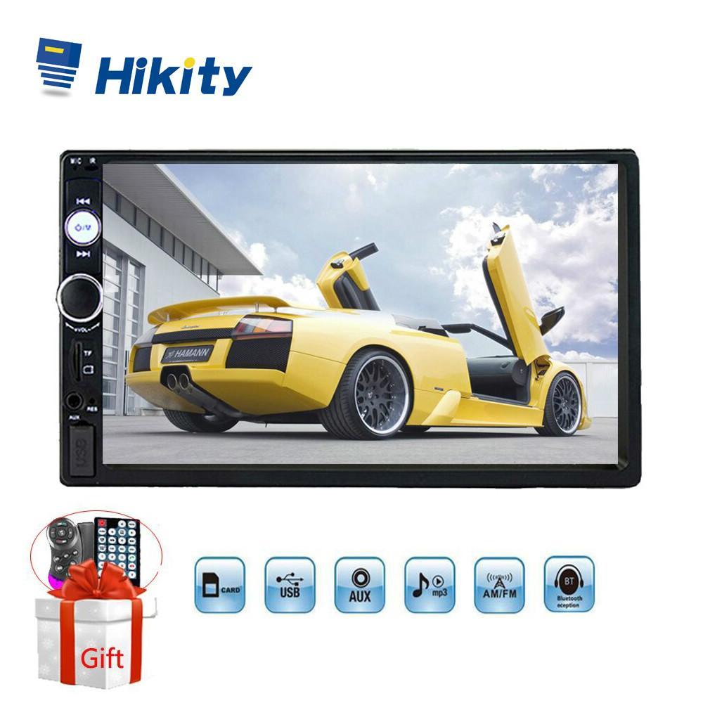 """Hikity 7 """"자동 라디오 7023b 범용 2 소음 자동차 멀티미디어 MP5 플레이어 Autoradio 지원 운영 원격 제어 백업 카메라"""