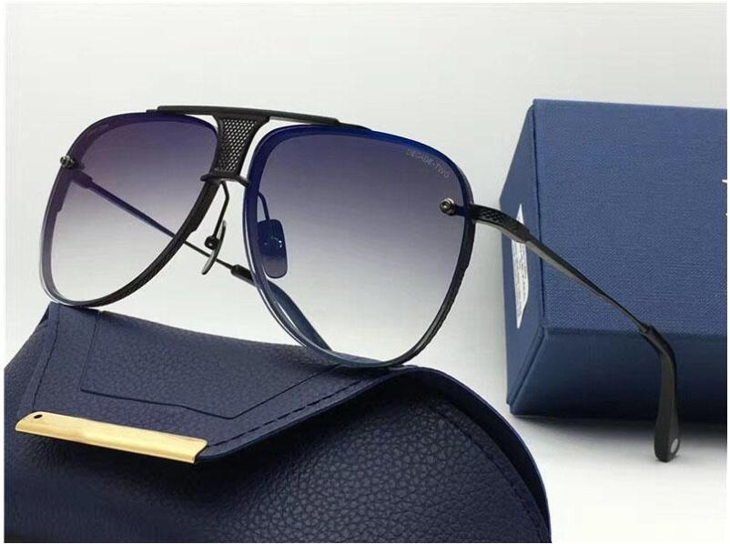 Atacado-DÉCADA DOIS edição limitada de luxo pilotos de metal fino novos designers clássico moda senhora marca óculos de sol embalagem original UV400