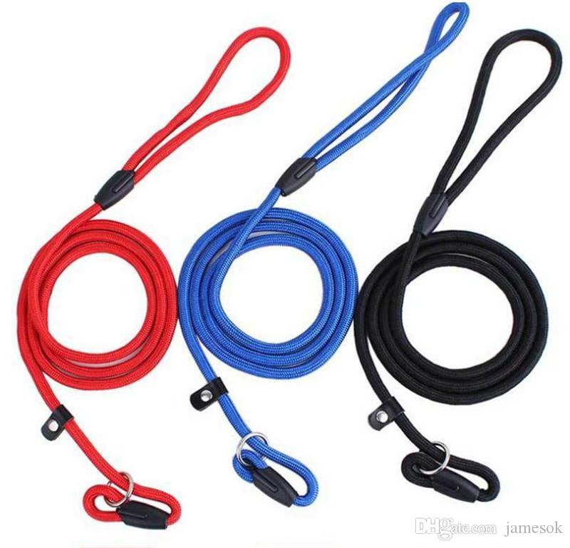 Pet Dog Corda de Nylon Treinamento Leash Slip Chumbo Strap Gola Ajustável Pet Animais Corda Suprimentos Acessórios 0.6 * 130 cm dc221
