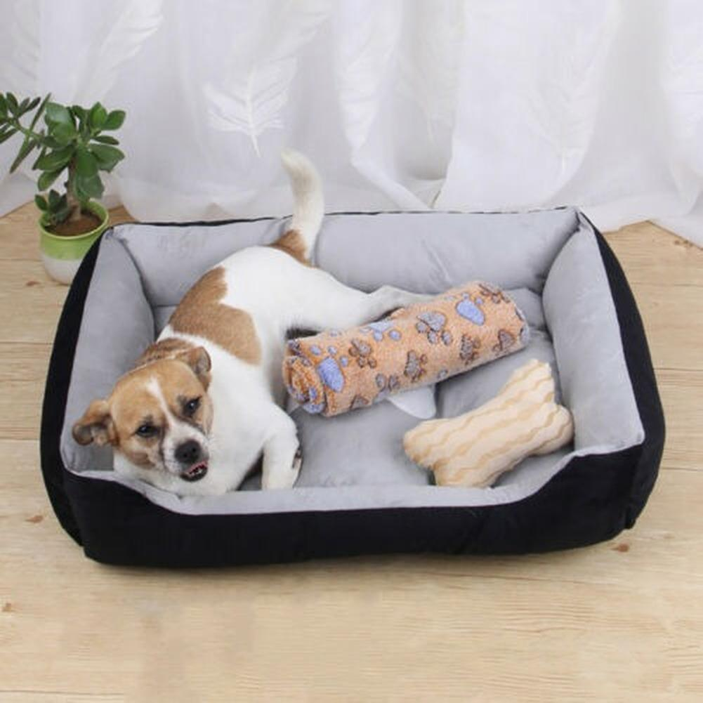 Pet Bed Soft Warm Dog Cat Sofa Nest For Small Medium Large Dogs Washable House For Cat Puppy Cotton Kennel Mat Pet Products