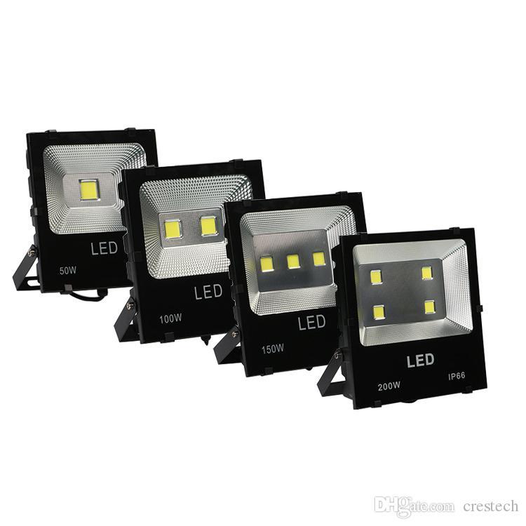 Yeni Radyatör Sel LED Işık Projektör 100W (2 * 50W) COB Projektör 110V 10000lm IP65 CE sertleştirilmiş cam Alüminyum Yeni Stil