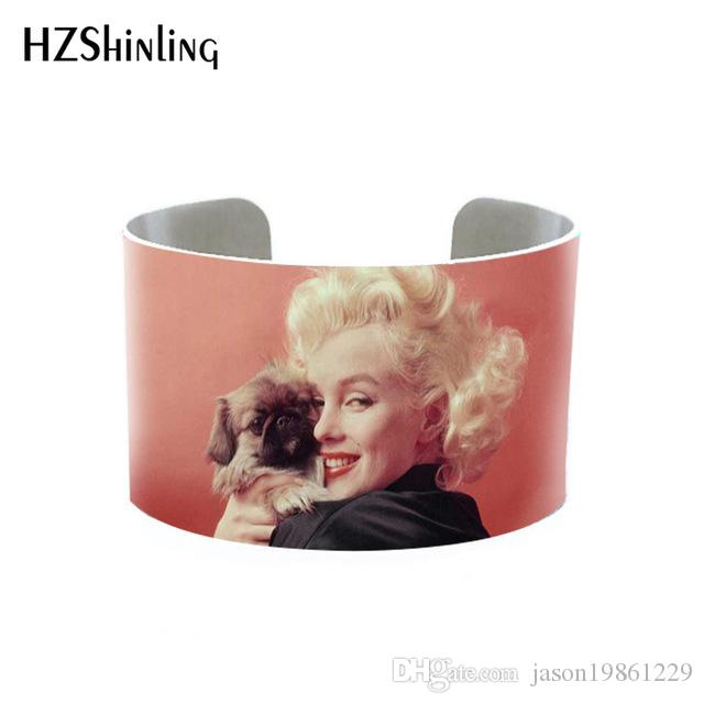 2019 Trendy Marilyn Monroe Quotes Bangle Cuff Jewelry Adjustable Printed Cuffs Bracelet Actress Bangles Gifts Fans Fashion