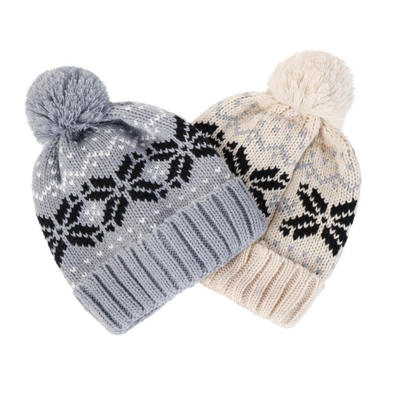الرجال النساء فضفاض الدافئة الكروشيه شتاء الصوف حك تزلج قبعة الجمجمة مترهل قبعات قبعة 10.12L