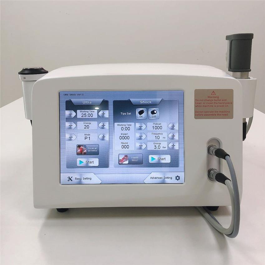 Onde de choc acoustique Physiothérapie ultrasons machine pour fasciite machine plantaires thérapie par ondes de choc pneuamtic pour perdre du poids