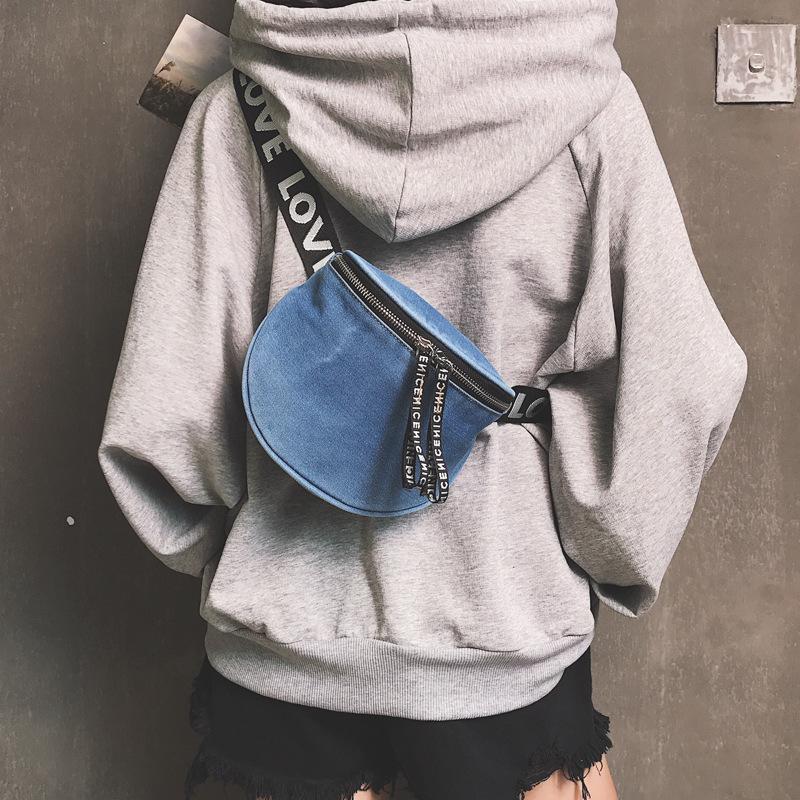 Nice2019 Tuch Doppel Cowboy Reißverschluss Mehrzweck Frau Paket Breite Riemen Einzel Schulter Messenger Kleine Tasche