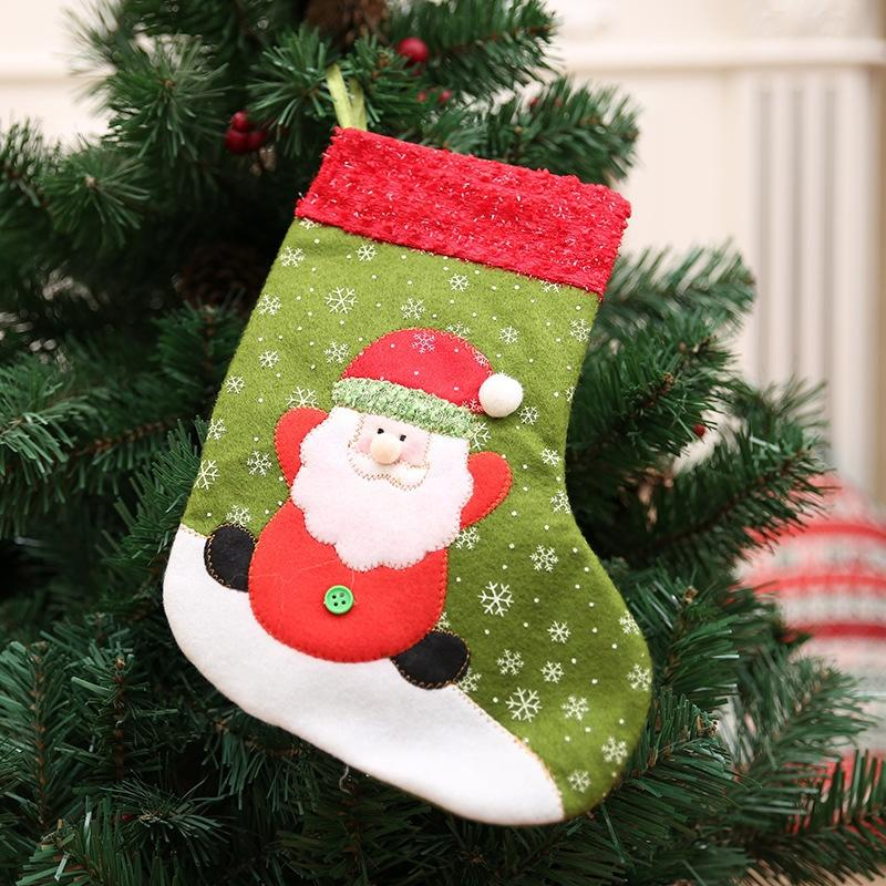 1PC Noel Süsleri Noel Baba Kardan Adam Noel Çorap Şeker Hediye Çanta